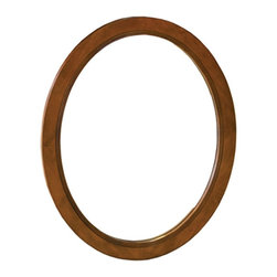 Pegasus - Ellipse Oval Mirror in Cherry Finish - F10AE0 - Manufacturer SKU: F10AE0032A. Detailed oval carvings. California regulation and ADA complaint. 1 in. frame thickness. Made from MDF and solid wood. 24 in. W x 30 in. H (18 lbs.)