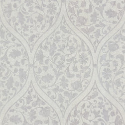 Zinc Moroccan Wallpaper - Moroccan inspired floral vines give walls a well-travelled look. Find it at AmericanBlinds.com.