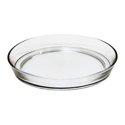 Achla - Small Glass Terrarium Tray - Made of clear glass, this tray is an attractive saucer to place under pots to catch excess water and soil. Construction Material: Glass. 8.75 in. W x 8.75 in. D x 1.5 in. H (2 lbs.)