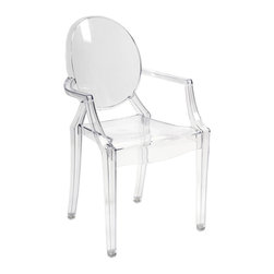 iMax - iMax Davante Transparent Arm Chair X-02598 - Featuring a modern and funky design concept, this trend-setting stylish chair incorporates a cutting edge transparent acrylic design that transitions well in a variety of d�_cor.