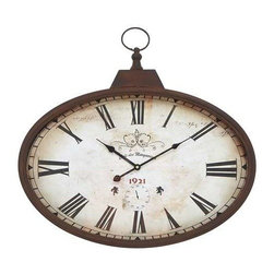 "Benzara - Metal Wall Clock Design in Rustic and Unique Pattern - Metal Wall Clock Design in Rustic and Unique Pattern. A great home decor item, this wall clock will accentuate the beauty of your lovely abode. It comes with a following dimensions 24""W x 2.5""D x 20""H."
