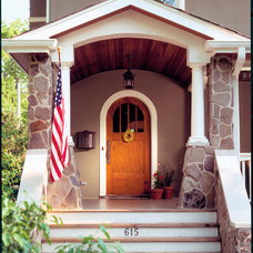 Craftsman Entry by Morgante Wilson Architects