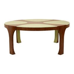 "300-12 pck leaf cocktail table - Dimensions: 42""Diam. x 17""H"
