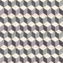 Grey Escher Cement Tile - BY AMETHYST ARTISAN