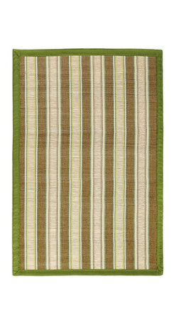 Anji Mountain - Hamptons Sweetfern Bamboo Rug - 4' x 6' - Bamboo rugs have been a traditional floor covering in the Far East for centuries. They add a touch of organic, practical elegance to any space. Our bamboo rugs are made of the finest quality, sustainably harvested bamboo in the world for supreme durability. Kiln-dried bamboo is machine-planed and sanded for a smooth finish. This classic collection offers a variety of intriguing designs and brilliant colors to choose from.