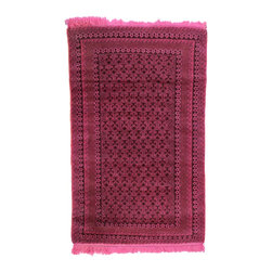 West of Hudson - Overdyed Vintage Tribal Hot Pink  Rug, 2.75x4.3 Ft. - Handknotted one of a kind over-dyed rug with vibrant colors. West of Hudson is proud to offer authentic vintage and new hand knotted rugs that that are carefully selected for our exclusive overdye collection. Each rug is a unique work of art. 100% handmade from start to finish.