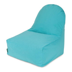Majestic Home Goods - Teal Kick-It Chair - This Majestic Home Goods Teal Kick-It Chair will add style and functionality to your living room, dorm room or outdoor patio. This Beanbag Chair has the design of modern furniture, while still giving the comfort of a classic bean bag. Woven from outdoor treated polyester, these loungers are durable yet comfortable. The beanbags are eco-friendly and feature a removable zippered slipcovers. Spot clean with mild detergent and hang dry. Do not wash insert.