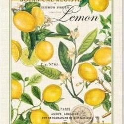 Michel Design Works Lemon Kitchen Towel, Natural Woven Cotton - This vintage-inspired lemon-print tea towel is perfection!