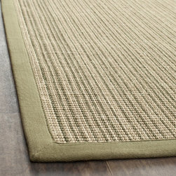 Safavieh - Safavieh Dream Natural Fiber Green Sisal Rug (5' x 7' 6) - An elegant,textured design highlights this beautiful beige sisal area rug. Its neutral finish would look striking atop a wooden floor or as a centerpiece to a dining room. It features a striped pattern that would go well with contemporary decor.