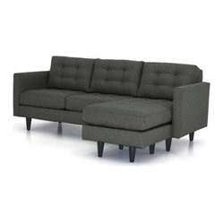 Beverly Revers. Chaise Sofa, Woven Graphite