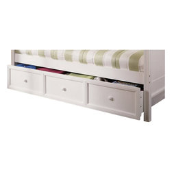 Fashion Bed - Fashion Bed Casey Trundle in White Finish - Fashion Bed - Daybed Trundles and Linksprings - B50C40 - Features: