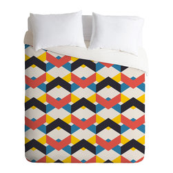 DENY Designs - Budi Kwan In The City Duvet Cover - Turn your basic, boring down comforter into the super stylish focal point of your bedroom. Our Luxe Duvet is made from a heavy-weight luxurious woven polyester with a 50% cotton/50% polyester cream bottom. It also includes a hidden zipper with interior corner ties to secure your comforter. it's comfy, fade-resistant, and custom printed for each and every customer.