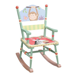 Teamson Design - Teamson Kids Sunny Safari Hand Painted Rocking Chair - Teamson Design - Kids Rocking Chairs - W8266A. Have a seat in a chair that brings life through the wonderful animal paintings! The pure texture will keep your little ones excited and bring life to every room!