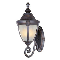 Wakefield-Outdoor Wall Mount - Wakefield Cast is a traditional, Mediterranean style collection from Maxim Lighting International in two finishes, Pewter or Empire Bronze, with Marble glass.
