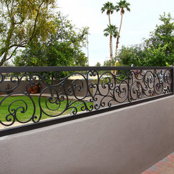 Tuscan Iron Railing by First Impression Security Doors - First Impression Security Doors creates amazing railings and staircases.