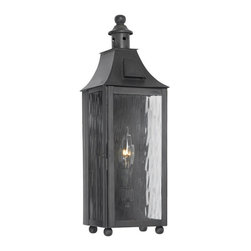 Elk Lighting - Elk Lighting Monterey 5753-C Outdoor Wall Lantern in Solid Brass & Charcoal Fini - 5753-C Outdoor Wall Lantern in Solid Brass & Charcoal Finish belongs to Monterey Collection by Elk Lighting Outdoor Wall Lantern Monterey Collection In Solid Brass In A Charcoal Finish Wall Lantern (1)