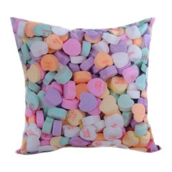 "lava - Candy Pillow - Features: -16""x16"". -Durable 100% polyester cover and fill. -Add elegant style to your home decor with this decorative throw pillow. -Spot clean only. -Made in the USA."