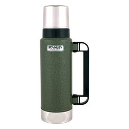 PACIFIC MARKET INTERNAT - Stan 1.4Qt Bottle Hammertone Green - Since 1913, we've remained dedicated to this simple promise: buy a Stanley bottle, get a quality product, guaranteed for life. Built for life. You asked and we heard. While we can't mess with perfection, we can make some improvements that non-purists may appreciate. The Classic 1.4Qt Ultra is the same size as the 1Qt but holds an extra cup and keeps your drink warm a full extra shift longer (now 36 hours). It also includes a handle that locks in place and an easy-pour stopper so you can pour from any angle. And, forget sipping, with an 11oz drinking cup you can take a real drink.