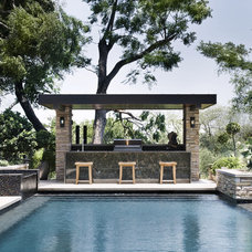 Contemporary Pool by Jay Corder, Architect