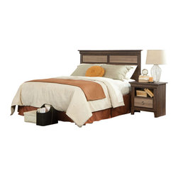 Standard Furniture - Standard Furniture Weatherly 5-Piece Headboard Bedroom Set - Weatherly bedroom has warm appealing character with its textured two-tone finish and versatile transitional styling, plus it has the smart advantage of a space conscious footprint.
