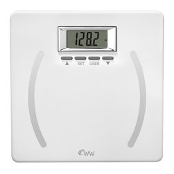Conair - Weight Watchers® by Conair Plastic Body Analysis Scale - When it comes to fitness, your weight is only part of the story. To get the full picture, this all-in-one scale measures your body fat, body water, BMI and bone mass — and can store up to four people into memory. Maintain your health with this sleek digital scale.
