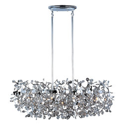 Maxim Lighting - Polished Chrome Comet 7 Light 1 Tier Linear Chandelier - Product