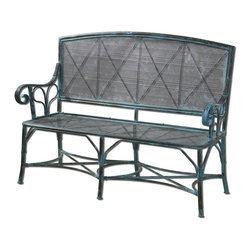Uttermost - Crackled Turquoise Generosa Bench - Crackled Turquoise Generosa Bench