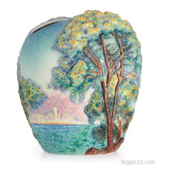Franz Porcelain - FRANZ PORCELAIN COLLECTION Philadelphia Museum Art Morning At Antibes Vase FZ025 - Finished In Lead Free Glazes * Hand Painted By Franz Porcelain Artisans * FDA Approved Food/Plant Safe * New In The Original Box