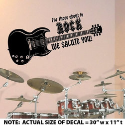 ColorfulHall Co., LTD - Music Wall Decal For Those About To Rock Cool Rock Wall Decals - Music Wall Decal For Those About To Rock Cool Rock Wall Decals