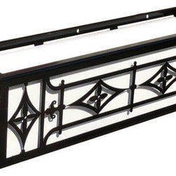 """Oxford Window Boxes - Our Oxford Window Boxes are perfect for historical styles and modern revitalized styles of architecture. Our Wrought Iron Window Boxes can be installed on any surface with the use of standard lag screws (sold separately). Follow our """"how to install window boxes"""" tips for safe and secure installation. Detailed instructions come included with the box."""