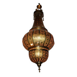 n/a - Moroccan Style Hand Punched Chandelier - This is one of our most uniquely designed Moroccan chandeliers that can be easily attached to the ceiling of a large room, banquet hall or hotel ball room.