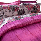 koi Design - Duvet Set - Pink Stripe Dye - Give your bed a modern makeover with this sophisticated bedding from our new koi Home Collection. Each Duvet Set is made from soft and silky 300-thread count cotton sateen in the koi prints you love.