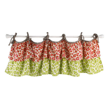 Cotton Tale Designs - Here Kitty Kitty Valance - A quality baby bedding set is essential in making your nursery warm and inviting. All Cotton Tale patterns are made using the finest quality materials and are uniquely designed to create an elegant and sophisticated nursery. Here Kitty Kitty valance is double tiered in hot pink and green. 100% cotton the valance is tied to rod with cheetah string ties. Valance measures 51 x 15. 100% cotton and made in the USA. Machine wash, cold water, gentle cycle, separately. Tumble dry low or hand dry. A wonderful valance for a girls nursery.
