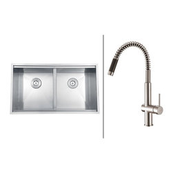 Ruvati - Ruvati RVC2389 Stainless Steel Kitchen Sink and Stainless Steel Faucet Set - Ruvati sink and faucet combos are designed with you in mind. We have packaged one of our premium 16 gauge stainless steel sinks with one of our luxury faucets to give you the perfect combination of form and function.