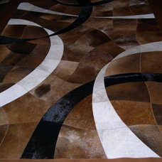modern rugs Cow hide