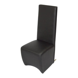 VIG Furniture - A&X Model Leather Chair - This dining chair overcomes the stereotypical bland dining chair we have all grown up with.  This stylish chair is upholstered in in full white leather from top to bottom.  It has a square shaped frame and a high back support for that extra lavish look and extra comfort. PU material.