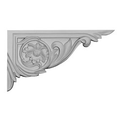"""Ekena Millwork - 11""""W x 6 1/4""""H x 5/8""""D Vincent Stair Bracket, Right - 11""""W x 6 1/4""""H x 5/8""""D Vincent Stair Bracket, Right. With the beauty of original and historical styles, decorative stair brackets add the finishing touch to stair systems. Manufactured from a high density urethane foam, they hold the same type of density and detail as traditional plaster stair bracket products. They come factory primed and can be easily installed using standard finishing nails and/or polyurethane construction adhesive."""