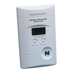 WALTER KIDDE PORTABLE EQUIPMNT - Nighthawk Carbon Monoxide Alarm, 110V Plug in with 9V Back Up Battery Included - Nighthawk Carbon Monoxide Alarm, 110V Plug in with 9V Back Up Battery Included