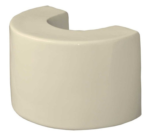Renovators Supply - Pedestal Bone Vitreous China, Ceramic Pedestal Sink Extender - Need a higher pedestal sink? This 8 inch Ceramic Pedestal Sink Extender is made to fit our pedestal sinks. Easily installs under your pedestal to personalize your own sink height. Save your back! You can choose from 2 heights: 4 inch or 8 inch.