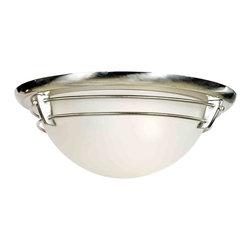 Quoizel Lighting - Quoizel NA1616BN New England Brushed Nickel Flush Mount - 3, 60W A19 Medium