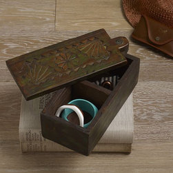 New Medium Traditional Wooden Spice Box - DISCOVERED
