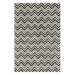 """Loloi Rugs - Loloi Rugs Weston Collection, Ivory and Grey, 5'-0""""x7'-6"""" - Feast your eyes on this. Hand-tufted in India of 100% wool, the tastefully designed Weston Collection features vibrant colors and bold, graphic patterns that instantly uplift the mood of your room. What's more, each Weston rug is crafted with a combination of colorful cut pile and ivory loops - adding a sense of depth and drama to these amazingly textural rugs."""