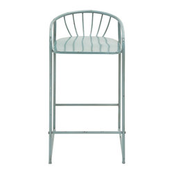 Most Comfortable Metal Barstool Blue - Description: