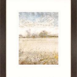 Paragon Decor - Infinite I Artwork - Light dances across the solemn landscape.  Matted in white and framed in dark wood finish molding.
