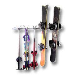 Garage Storage Racks - Ski and snowboard storage rack. Keep the garage organized with specialized storage racks.