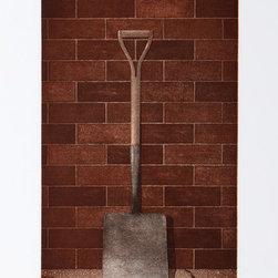 Terence Millington, The Shovel, Mezzotint - Artist:  Terence Millington, English (1942 - )