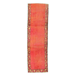 eSaleRugs - 2' 9 x 9' 6 Tabriz Persian Runner Rug - SKU: 22135377 - Hand Knotted Tabriz rug. Made of 100% Wool. 60-70 Years(Antique).