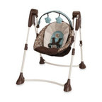 Graco - Graco Swing By Me Portable 2-in-1 Swing in Little Hoot - Oh the fun you'll have--the two of you. With the Graco Swing By Me 2-in-1 Portable Swing, you'll be able to keep baby close by without interrupting your little one's fun. Designed so you can bring baby with you all over the house and when traveling.