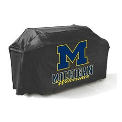 "Mr Bar B Q - Michigan Wolverines Grll Cover - Michigan Wolverines Grll Cover... There's no better way to show of your team pride than this college grill cover.  With a huge custom designed logo on the front  you'll be the envy of your neighbors at the next block party or BBQ.  Measuring 65x25x40"" it fits most gas grills but it's more than just a show piece for your backyard it's made of high quality materials that will protect your grill from the elements.  This cover resists mold  mildew and extreme temperatures.  The underside is soft protecting your grills finish while the outer layer is coated to protect from rain  UV Rays  pollen  dirt  sap and rain keeping your grill protected throughout the seasons and ready for the next big game!  This item cannot be shipped to APO/FPO addresses. Please accept our apologies."