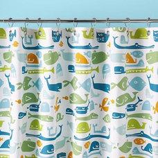 Kids Bathroom Accessories: Kids Fish Pattern Shower Curtain in All Bath